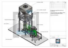 Plan station vidange conteneur IBC Containers
