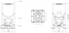 Plan Conteneur polyéthylène 1000L